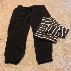 Clothe & Stone (Anthro) black cargo joggers S
